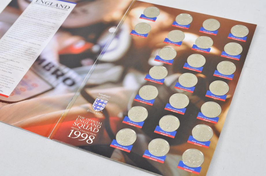 The Official England Squad Medal Collection 1998 FIFA World Cup + The Final Five 3