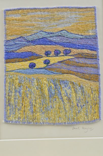 Carol Naylor - Distant Plains Embroidered Textile on Framed Canvas 2