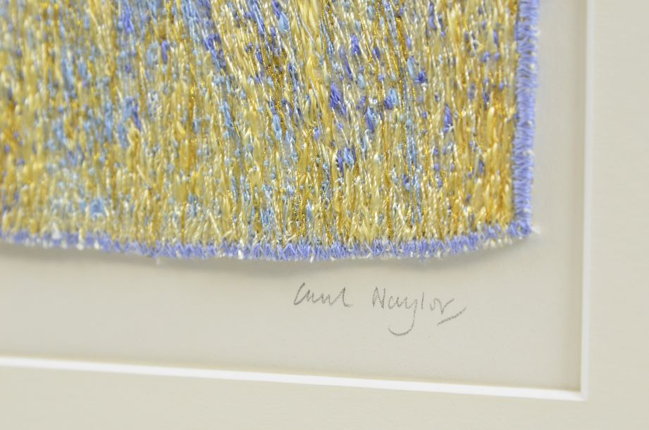 Carol Naylor - Distant Plains Embroidered Textile on Framed Canvas 4