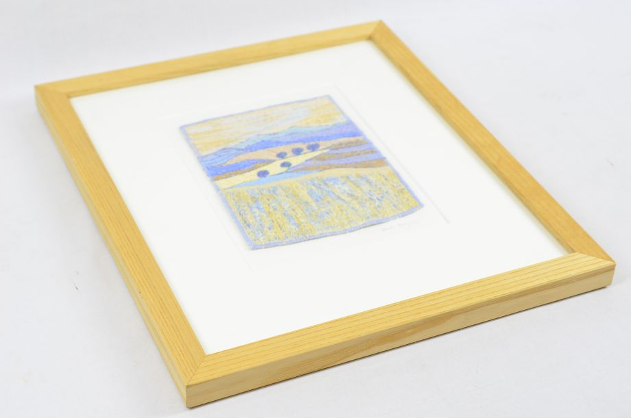 Carol Naylor - Distant Plains Embroidered Textile on Framed Canvas 6