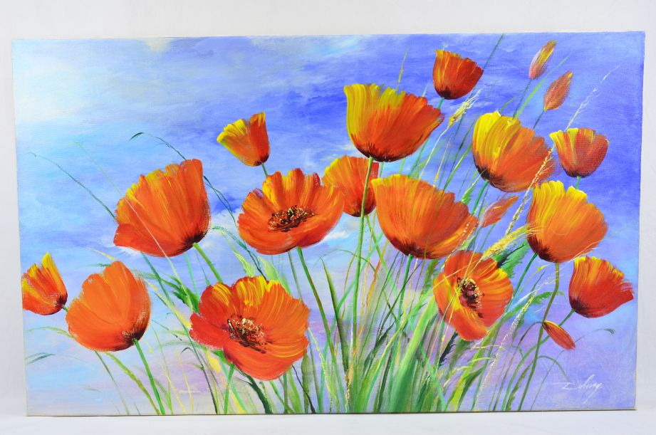 Nikolaj Dubovoy - Poppies Original Oil Painting on Canvas 1