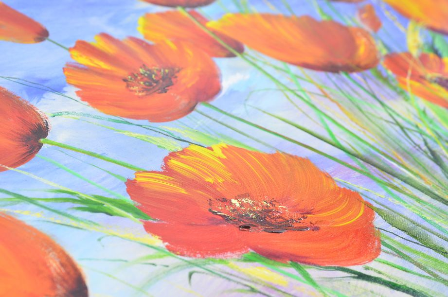 Nikolaj Dubovoy - Poppies Original Oil Painting on Canvas 4