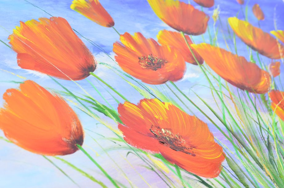 Nikolaj Dubovoy - Poppies Original Oil Painting on Canvas 5