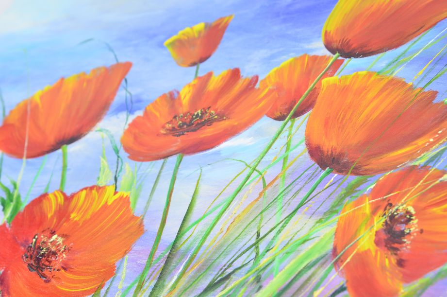 Nikolaj Dubovoy - Poppies Original Oil Painting on Canvas 6
