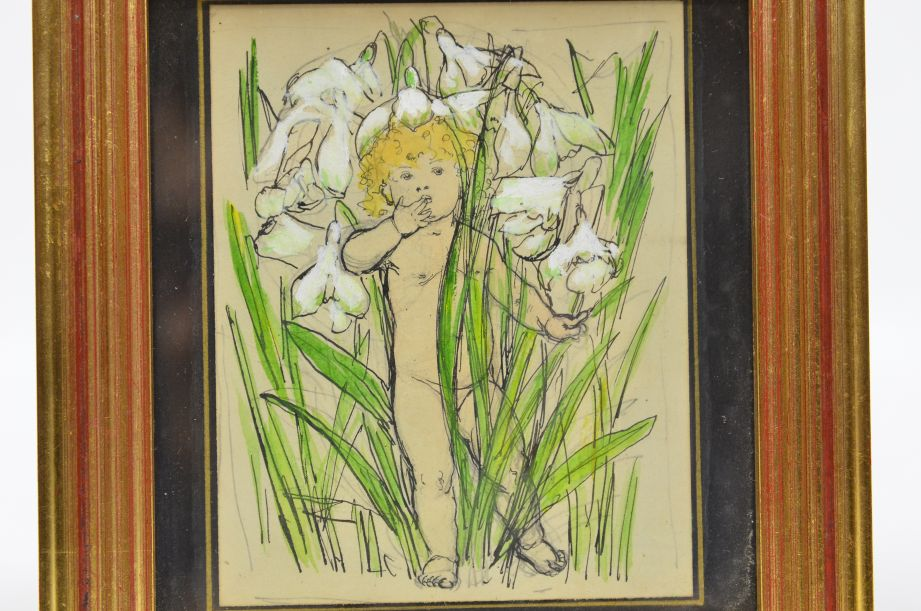 Nellie Benson Framed Sketchbook Drawing 2