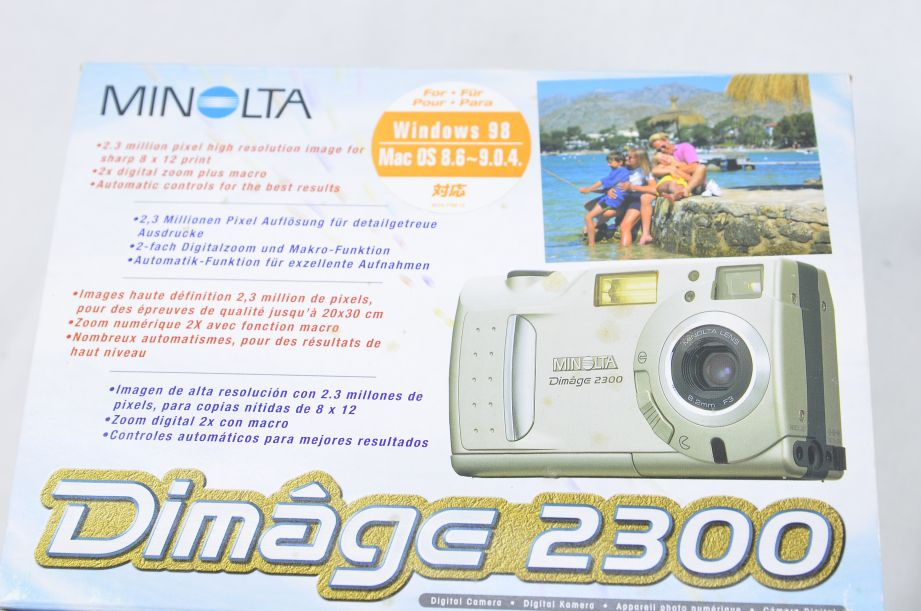 Minolta Konica DiMAGE 2300 2.3MP Digital Camera - Silver 3