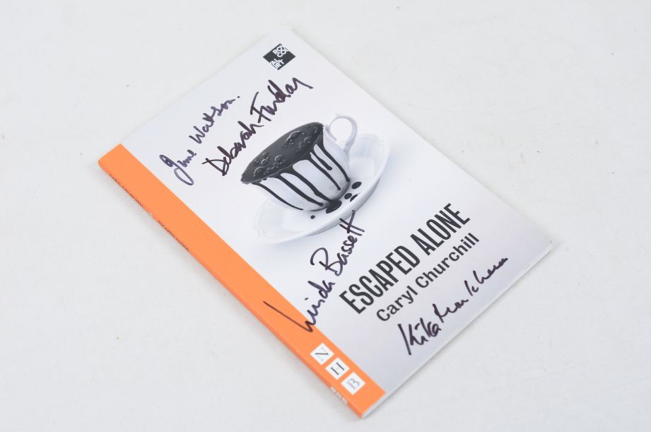 Escaped Alone by Caryl Churchill (Paperback, 2016) - Signed by Actors 1
