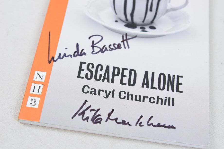 Escaped Alone by Caryl Churchill (Paperback, 2016) - Signed by Actors 3