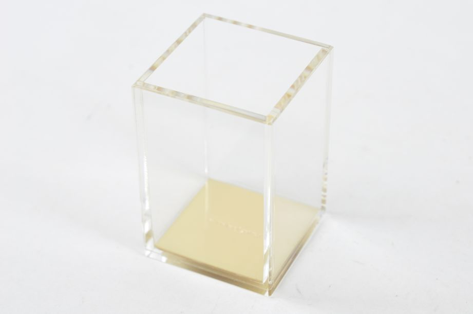 """Kate Spade New York """"a stroke of genius"""" Acrylic Pencil Cup/Holder - Gold 2"""