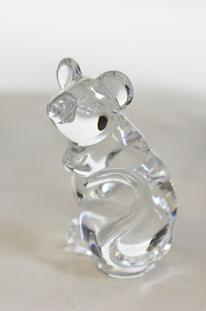 Daum France Crystal Mouse Paperweight Figurine