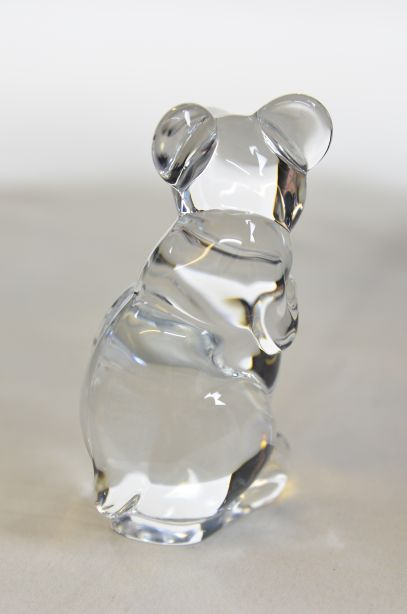 Daum France Crystal Mouse Paperweight Figurine 3