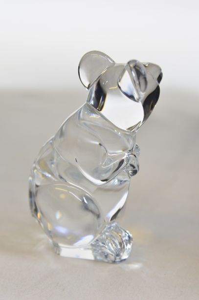 Daum France Crystal Mouse Paperweight Figurine 4