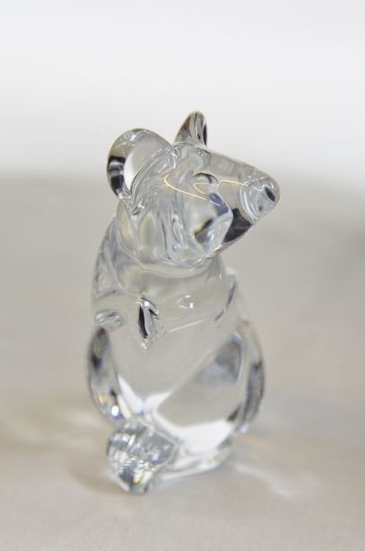 Daum France Crystal Mouse Paperweight Figurine 5