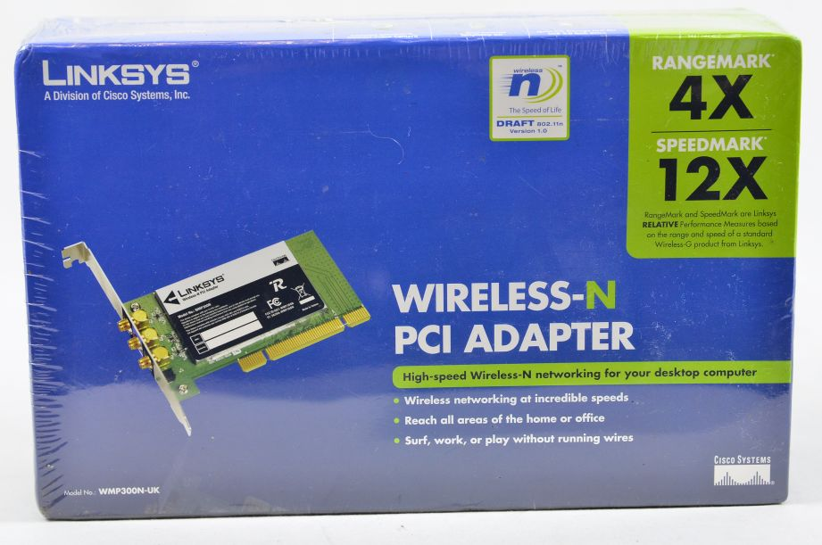 Linksys WMP300N-UK Wireless N PCI Adapter 1