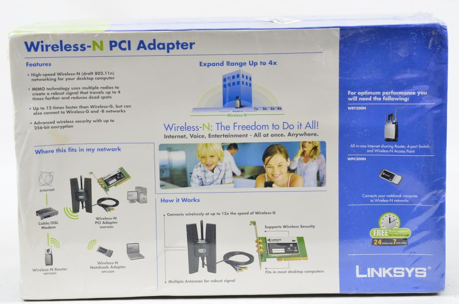 Linksys WMP300N-UK Wireless N PCI Adapter 2