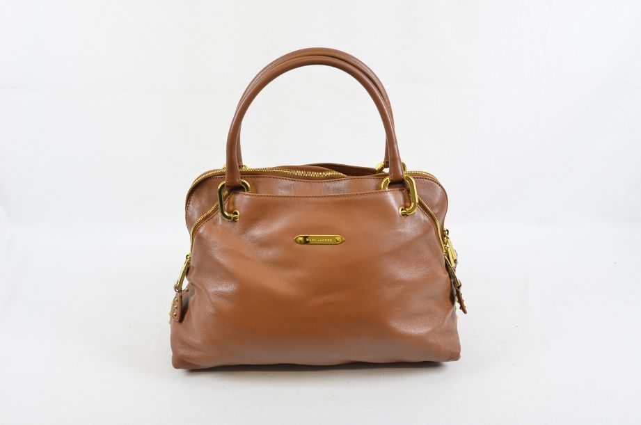 Marc Jacobs Gianduia & Brass Lamb Leather Rio Handbag Made in Italy RRP $1,195 1