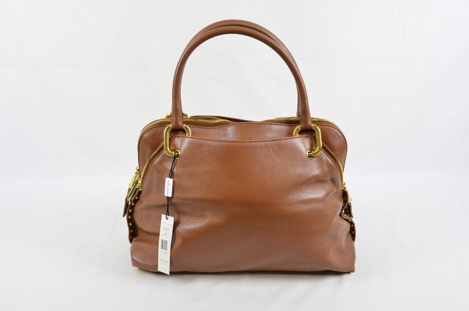 Marc Jacobs Gianduia & Brass Lamb Leather Rio Handbag Made in Italy RRP $1,195 2