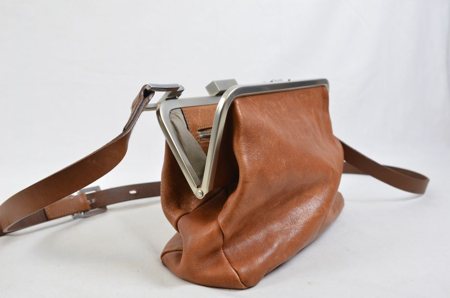 Ally Capellino Shirley Calvert Tan Leather Cross Body Handbag 3