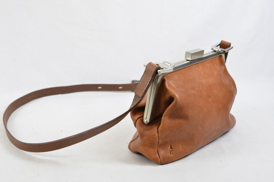 Ally Capellino Shirley Calvert Tan Leather Cross Body Handbag 4