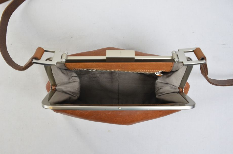 Ally Capellino Shirley Calvert Tan Leather Cross Body Handbag 7