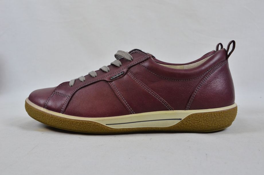 Ecco Chase Bordeaux Old West Lace Low Cut Leather Shoes UK Size 6 5