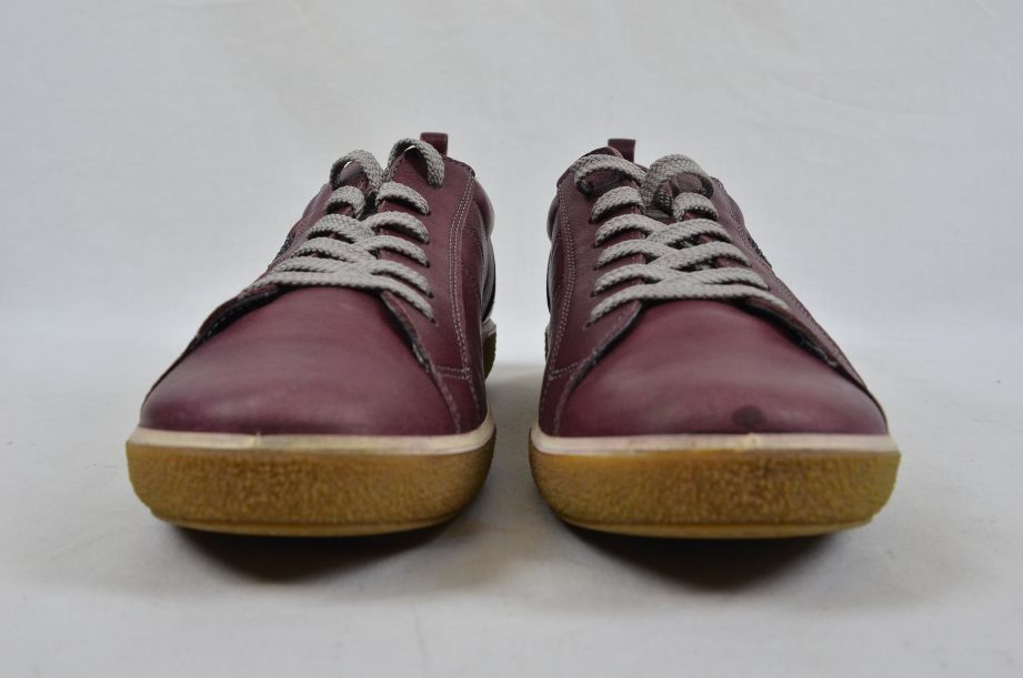Ecco Chase Bordeaux Old West Lace Low Cut Leather Shoes UK Size 6 6