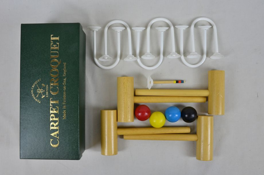 Townsend Carpet Croquet Mini Indoor Game Set Made in England 1
