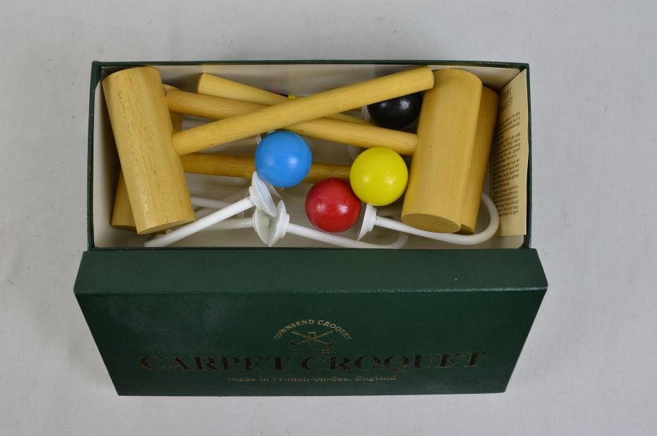 Townsend Carpet Croquet Mini Indoor Game Set Made in England 3