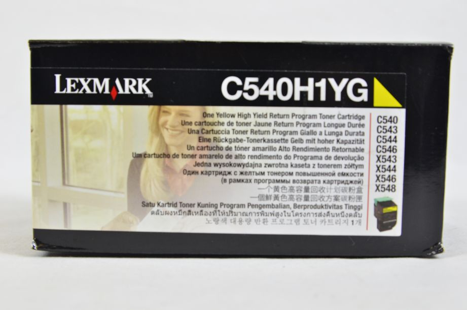 Genuine Lexmark High Yield Return Program Toner Cartridge - Yellow - C540H1YG 2