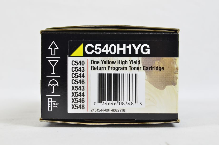 Genuine Lexmark High Yield Return Program Toner Cartridge - Yellow - C540H1YG 4