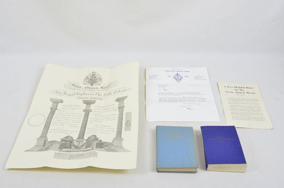 Freemason Books & Certificate Collectables / Collection / Job Lot 1
