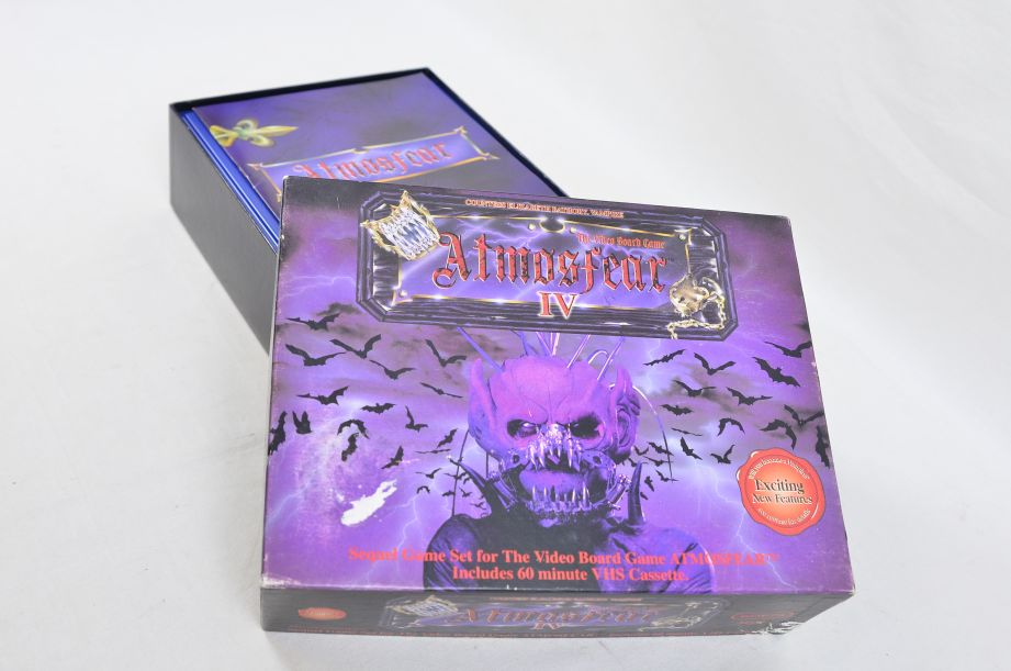 Atmosfear IV (4) VHS Expansion Pack Video Board Game 1993 Spears Games 34572