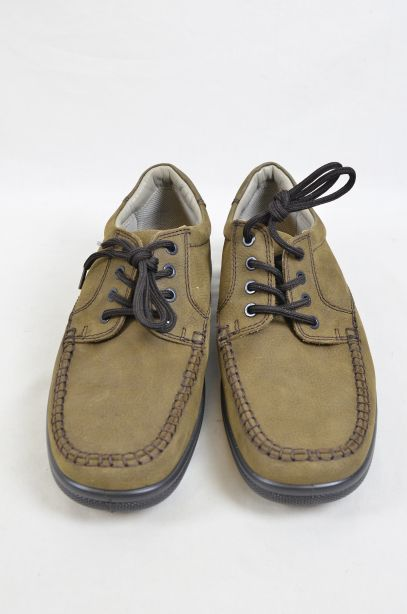 Hotter Stitch Fudge Brown Nubuck Shoes UK Size 8.5 2
