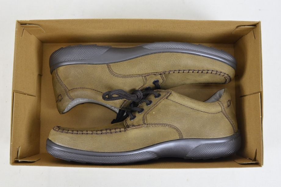 Hotter Stitch Fudge Brown Nubuck Shoes UK Size 8.5 6