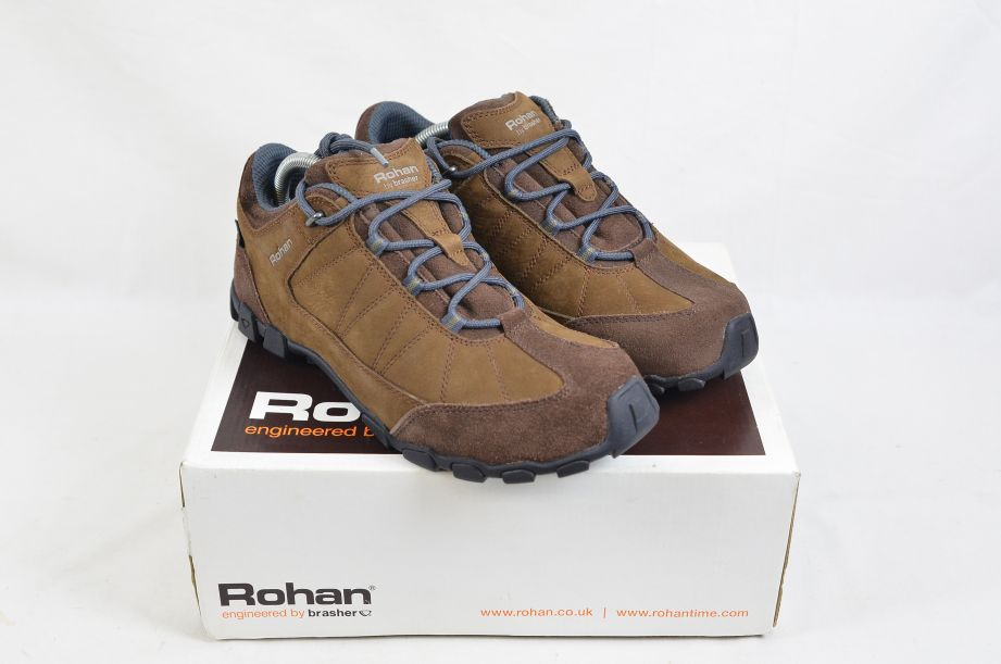 Rohan Humla Chocolate/Blue Brown Leather Shoes UK Size 9