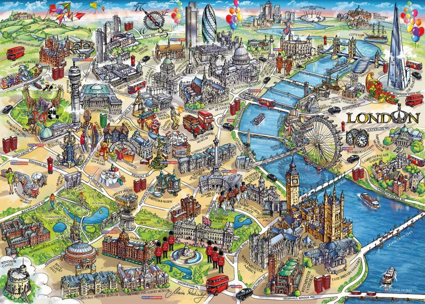 Gibsons London Landmarks Jigsaw Puzzle, 1000 piece 1
