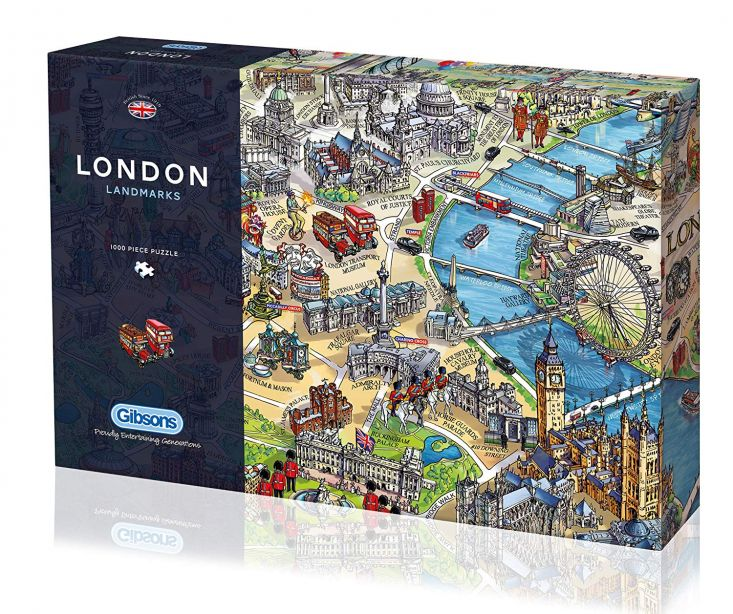 Gibsons London Landmarks Jigsaw Puzzle, 1000 piece 2