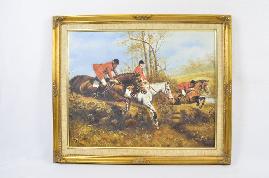 "D. Long ""The Hunt"" Original Oil Painting 3"