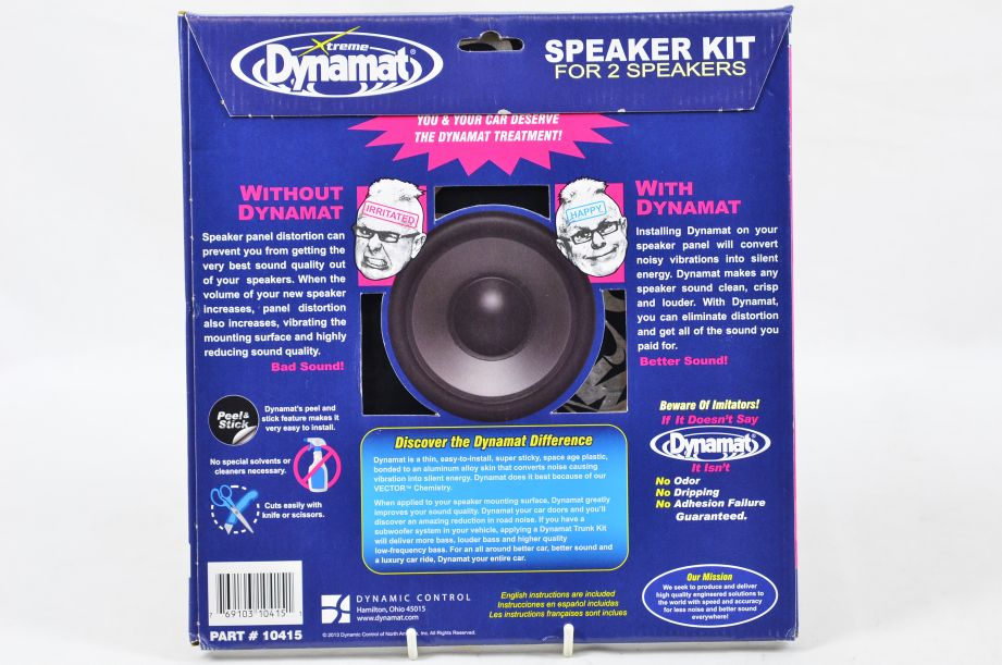 Dynamat Xtreme Speaker Kit For 2 Speakers (2 Sound Dampening Sheets) #10415 2