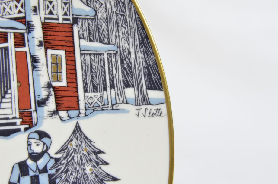 Arabia Finland Decorative Christmas Plate 1990 by Tove Slotte 4