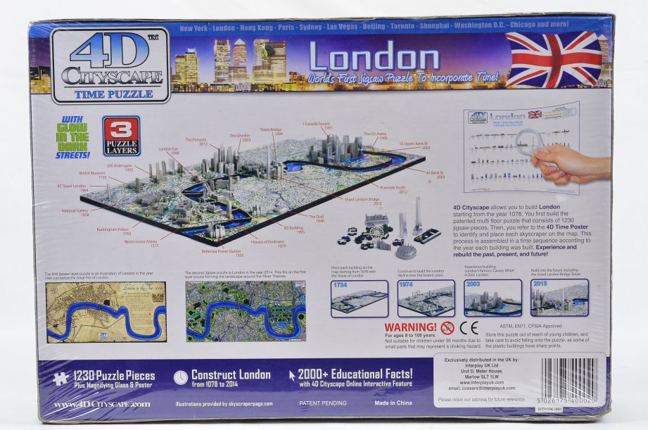 4D Cityscape London Puzzle 1230 Pieces Jigsaw Puzzle 2