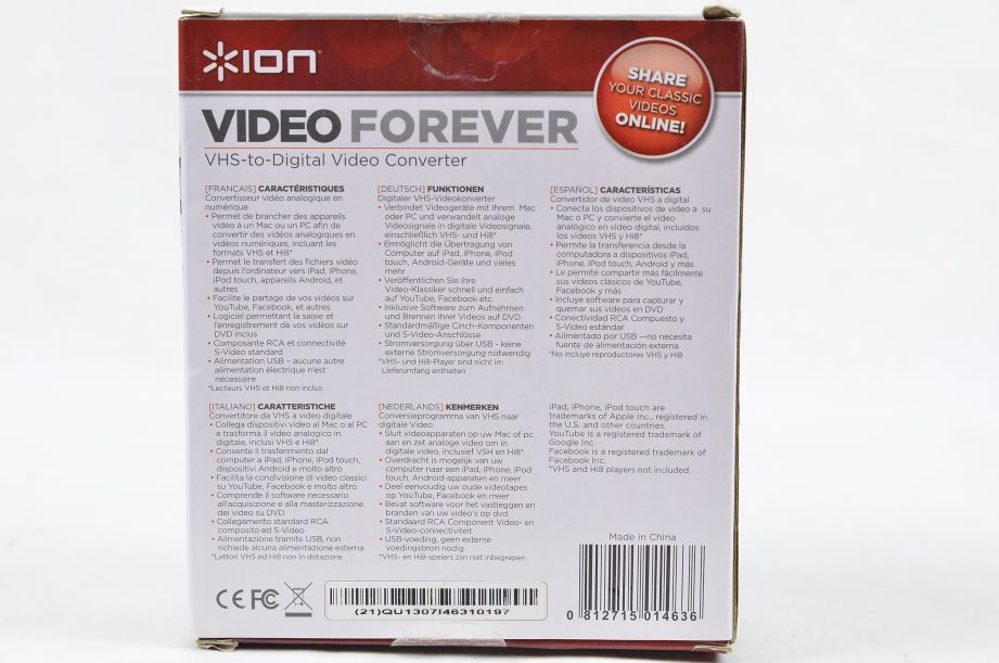 Ion Video Forever VHS to Digital USB Video Converter 7