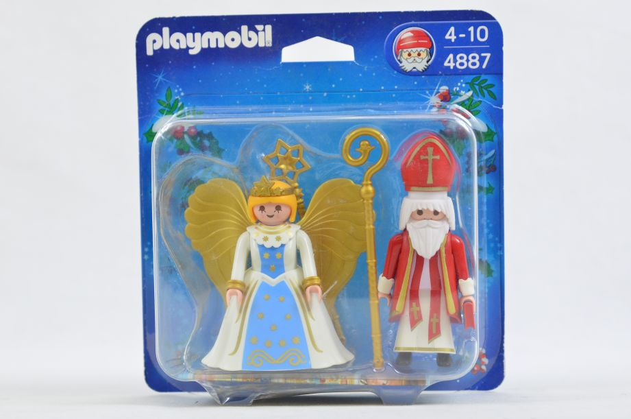 Playmobil 4887 Saint Nicholas and Angel Christmas Figures Set 1