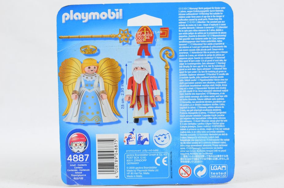 Playmobil 4887 Saint Nicholas and Angel Christmas Figures Set 3