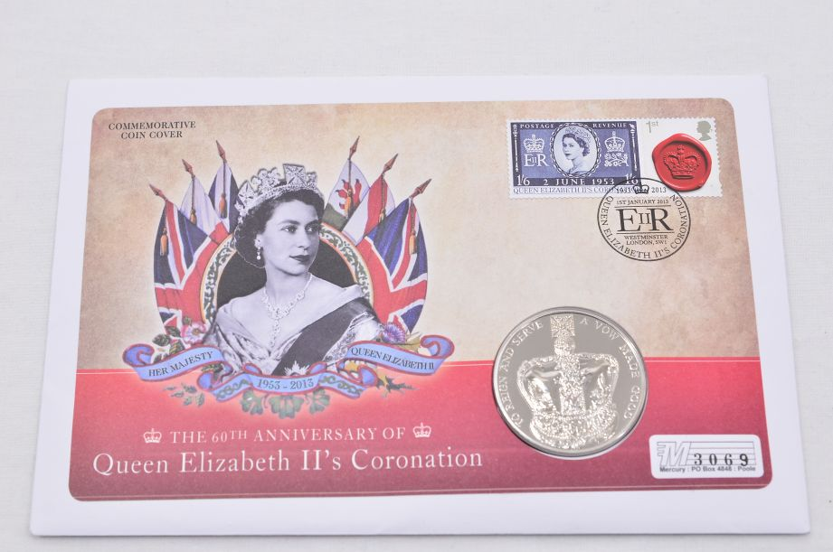 60th Anniversary of Queen Elizabeth II's Coronation £5 Coin Cover 2013