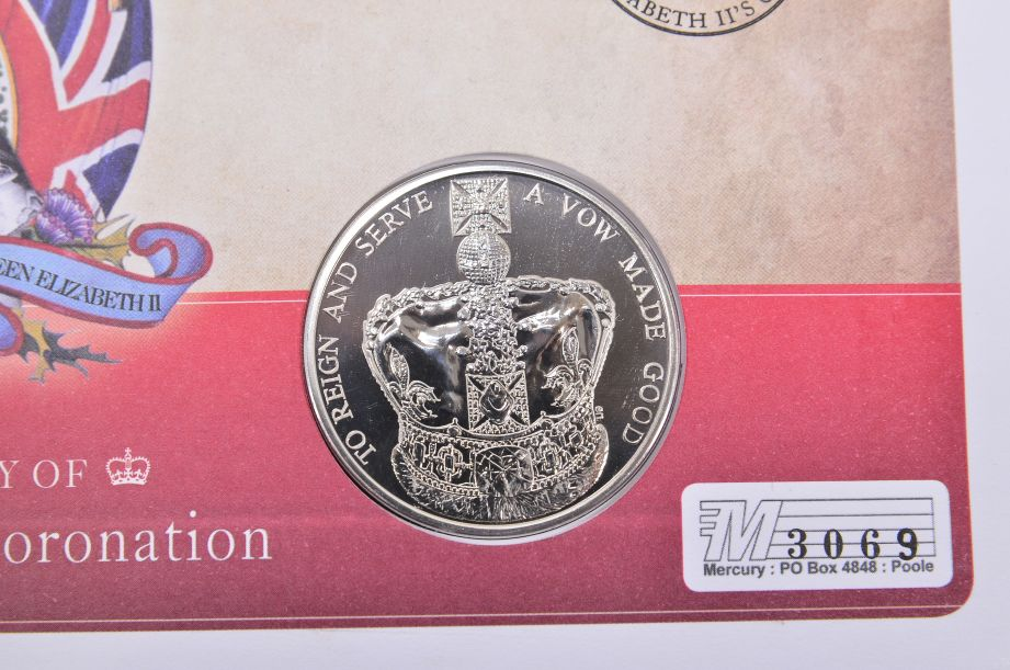 60th Anniversary of Queen Elizabeth II's Coronation £5 Coin Cover 2013 2