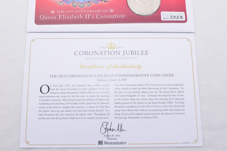 60th Anniversary of Queen Elizabeth II's Coronation £5 Coin Cover 2013 4