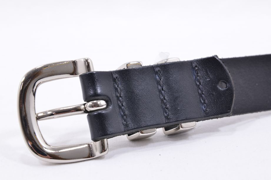 "R.M. Williams Black Leather Cowhide Buckle Belt 34"" 6"