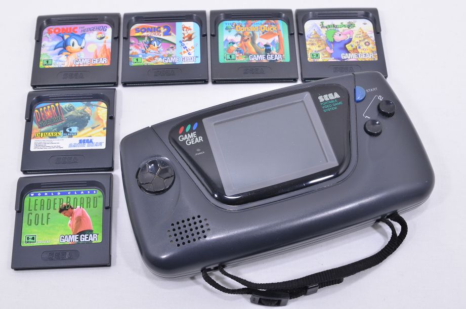 Sega Game Gear Console with Games - Faulty 1