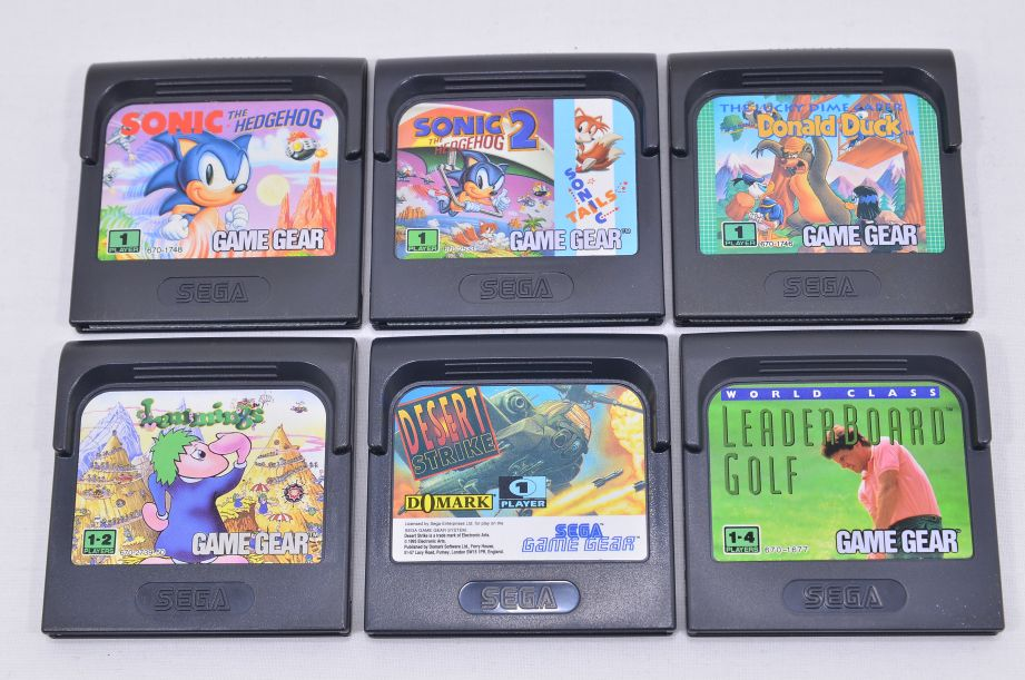 Sega Game Gear Console with Games - Faulty 12